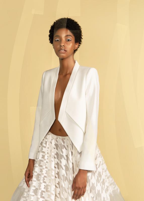 Jacket: BCBG; Skirt: Narces