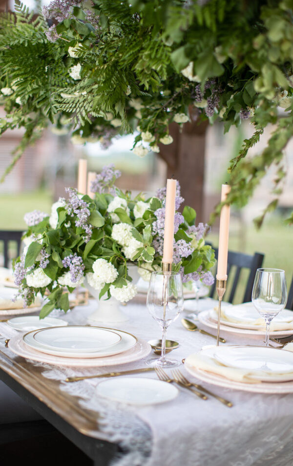 Lilac wedding tablescape 5