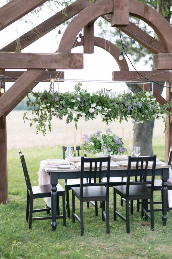 Lilac tablescape 2