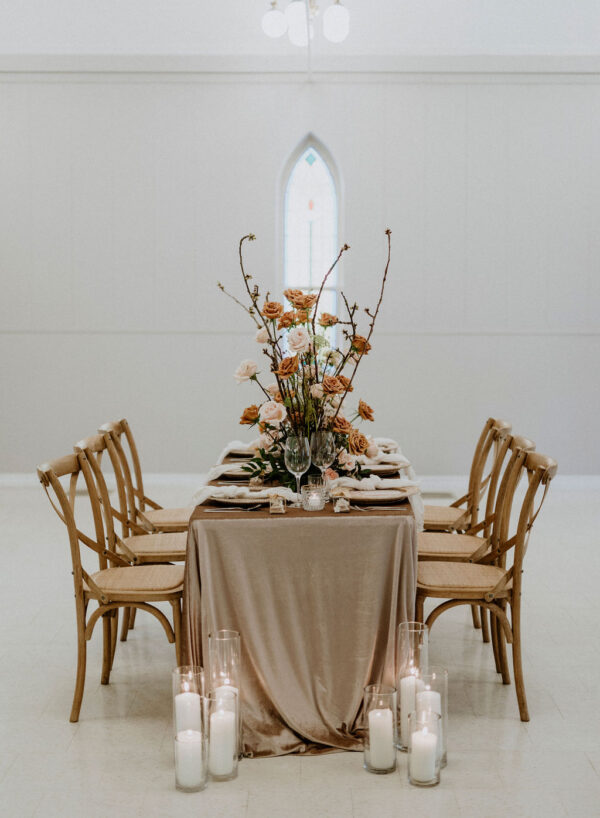 Neutral Wedding Tablescape